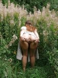 amateur photo Spread open in the bushes.