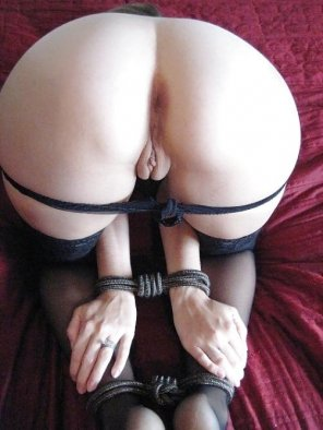 amateur photo Gorgeous tied up ass