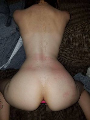 amateur photo Love to be covered in boyfriend's cum 👅