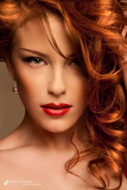 Glamour model redhead shot