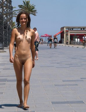 amateur photo Naked girl out for a stroll