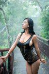 amateur photo Rain-soaked hottie