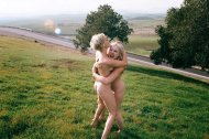 amateur photo Blonde, naked and happy