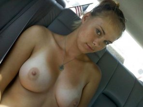 amateur photo Backseat beauty
