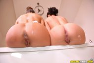 Two Bath Tub Buttholes