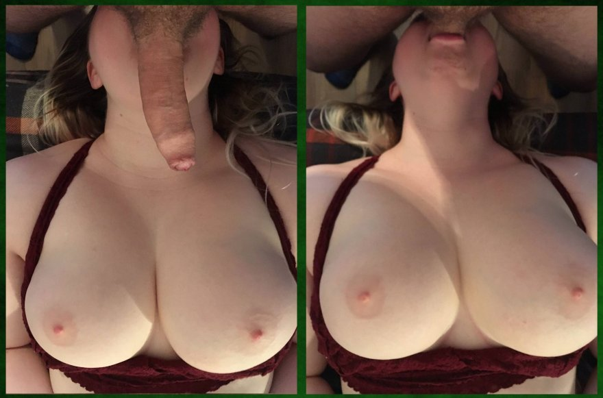 for those of you asking if I deepthroat... [F+M] Porn Photo