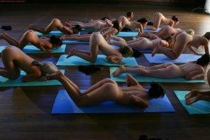 amateur photo Naked yoga