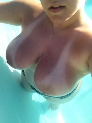 amateur photo In the pool