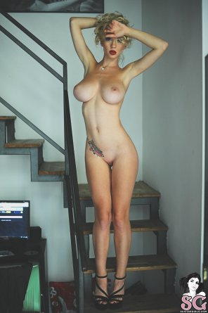 amateur photo On the stairs