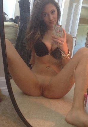 amateur photo Spread Open In The Mirror