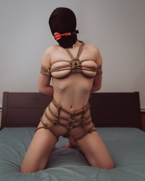 amateur photo She was beginning to grow tired of the ropes clinging to her nipples