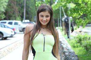 amateur photo Maria Ryabushkina exposing herself in a minidress