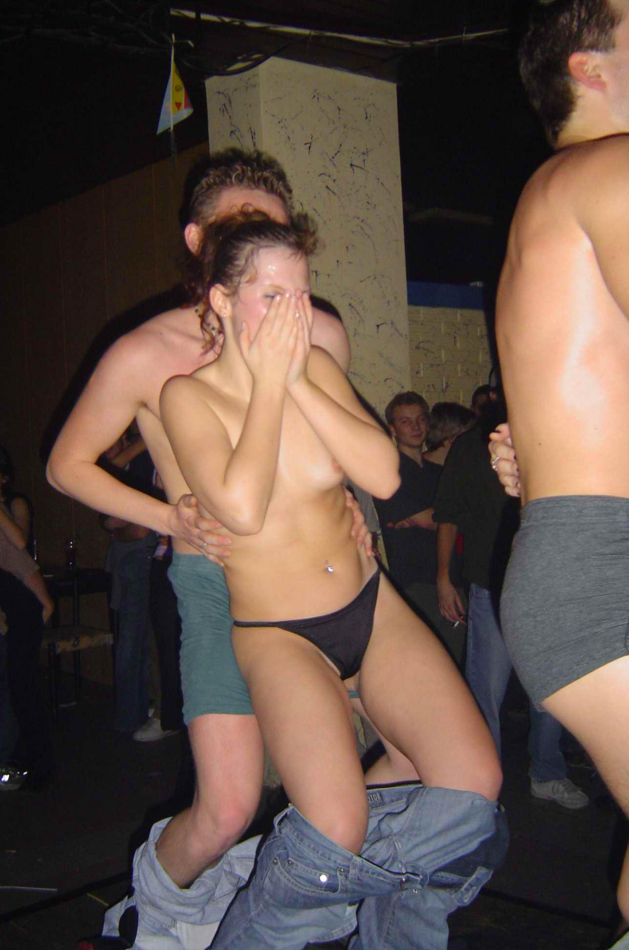 Possible only amateur girl naked at party are