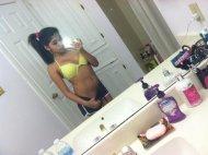latina selfie before school