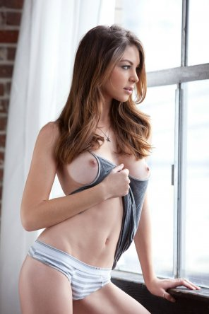 amateur photo Grey Tank Top and Panties