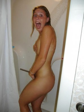 amateur photo caught in the shower