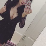 Black dress selfie