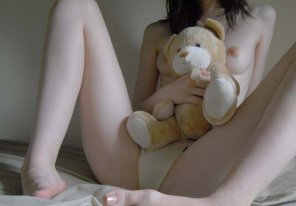 Pale skin black hair teen nude 5