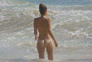 Sweet rear view on the beach