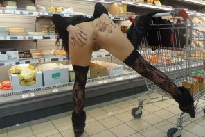 amateur photo supermarket ass hole