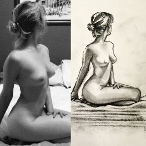 amateur photo Nude original vs self portrait