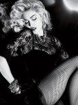 amateur photo Black & white Madonna.