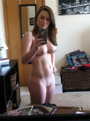 amateur photo Woman With iPhone