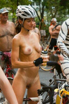naked girls on bikes riding