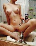 amateur photo On the bathroom sink