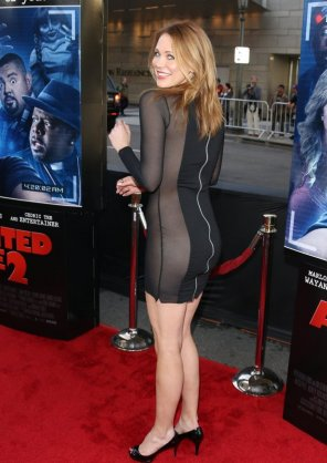 amateur photo Maitland Ward in a very revealing dress