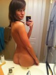 amateur photo Showing her beautiful backside