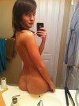 amateur photo Showing her beautiful backside