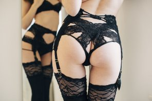 amateur photo Beautiful black lace