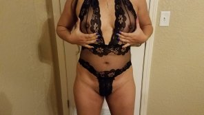 amateur photo Wife dressed up and ready for it...