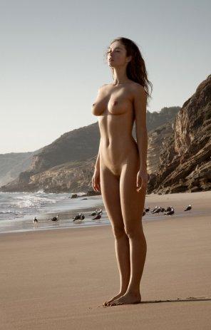amateur photo Resting beach face