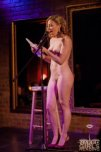 """amateur photo Naked Girl Reading """"Comedy Undressed"""" at the Everleigh Social Club in Chicago - April 2012"""
