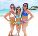 Three beach beauties