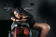 Babe on a bike