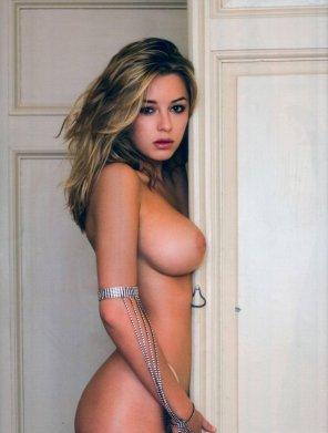 amateur photo That lone boobie...