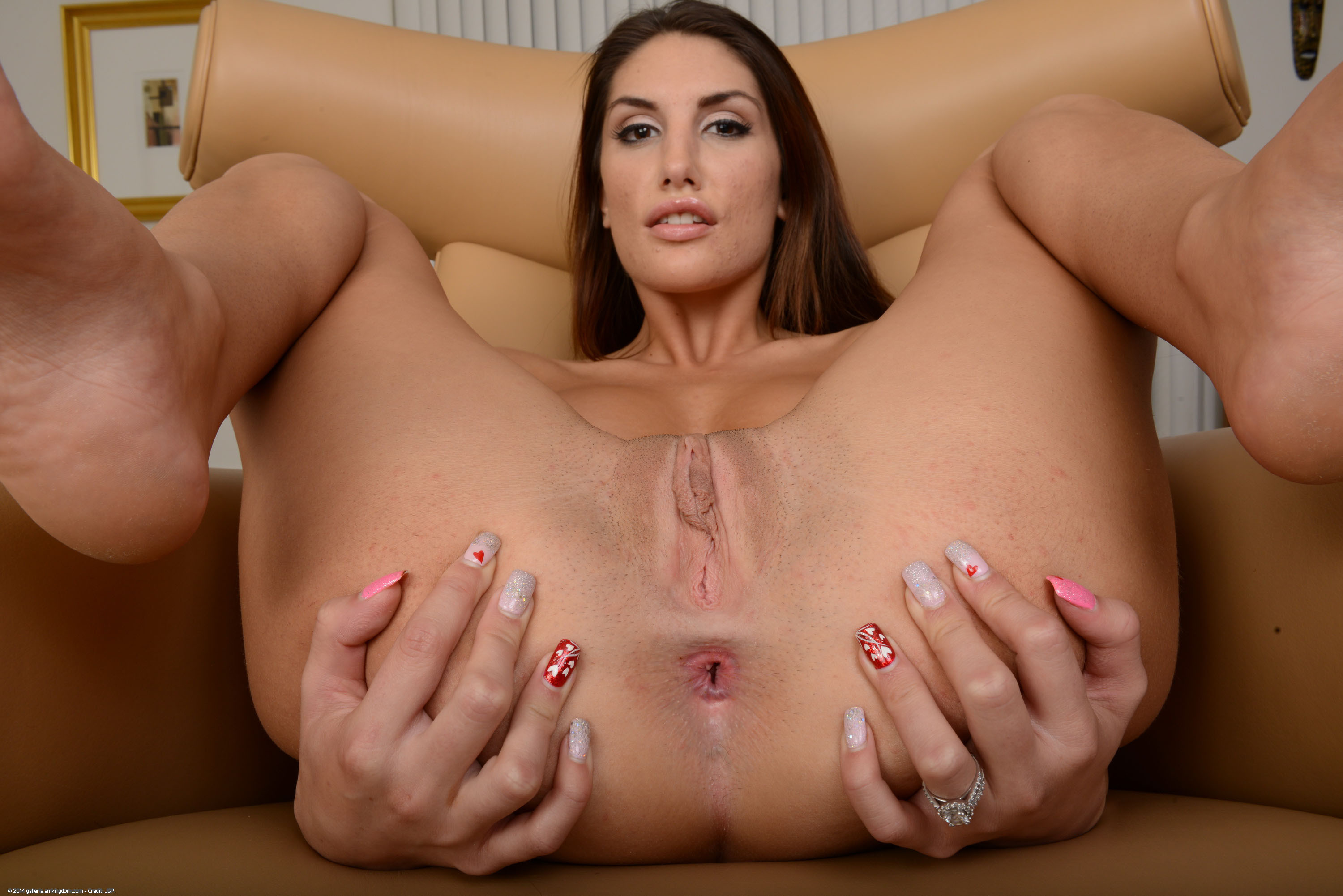 August ames spreading pussy