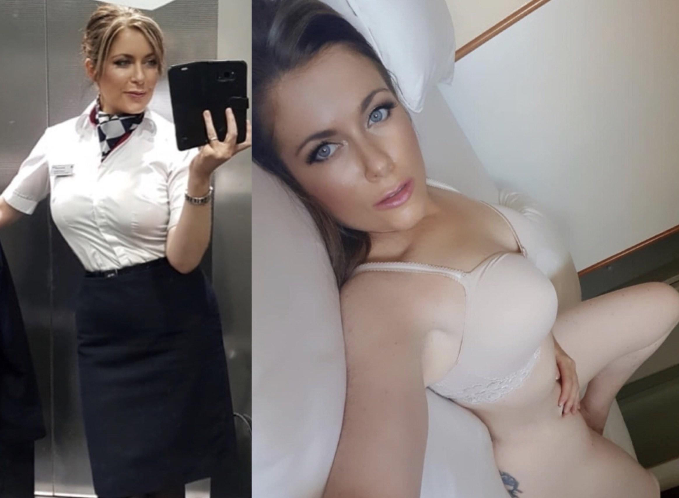 Naked flight attendant-3627