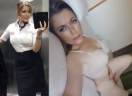 Naked Flight Attendant