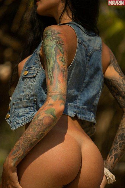 Jean jacket Porn Photo