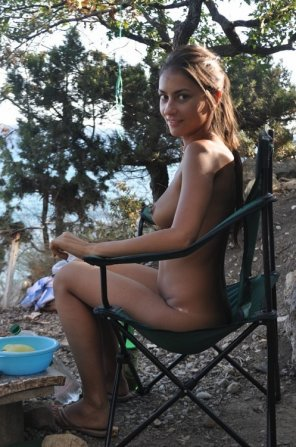 amateur photo Naked camper
