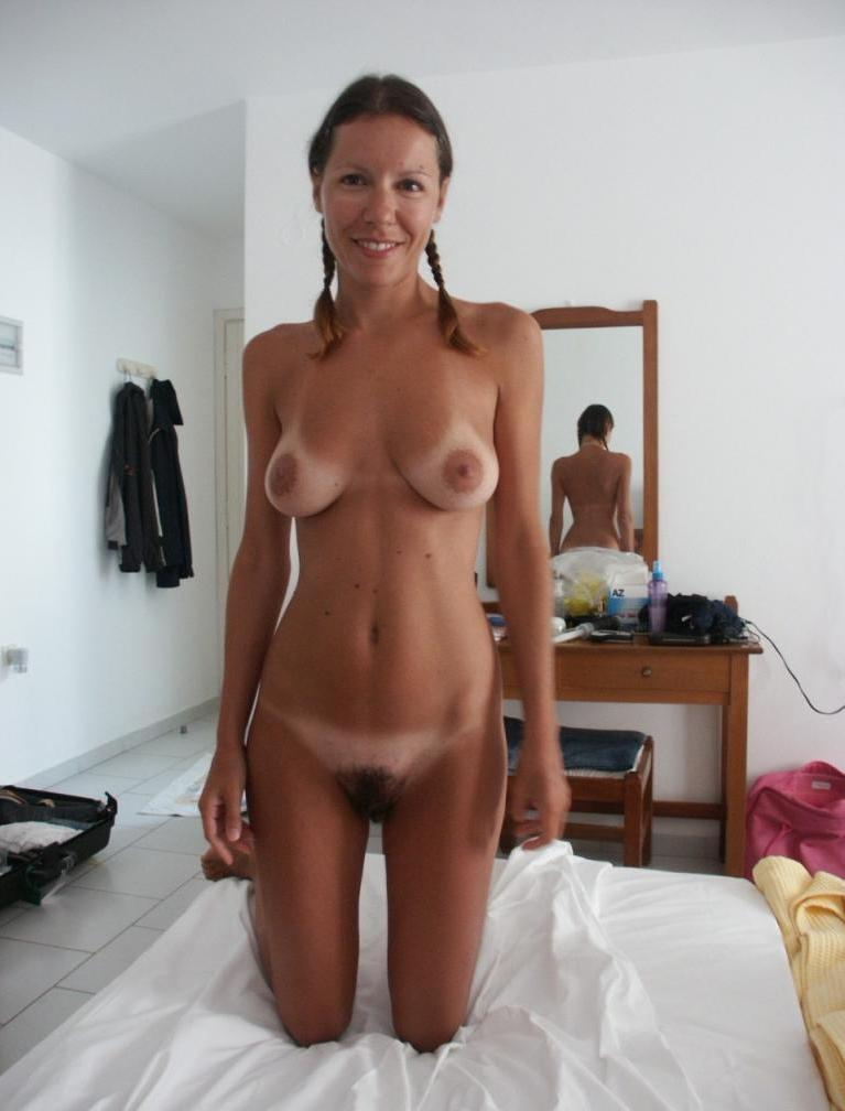 cute naked amateur tan line