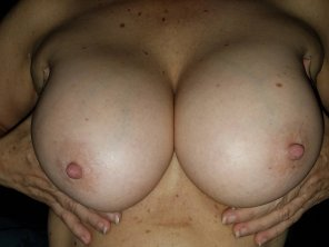 amateur photo Cum play with these!