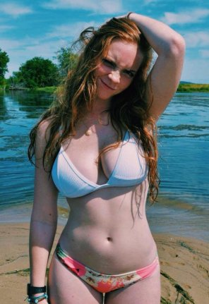 amateur photo Pale redhead beauty