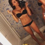 amateur photo Trying on a bikini