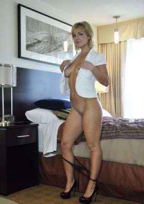 amateur photo Panties down shirt open