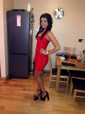 amateur photo Little Red Dress